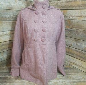 "🎄CHRISTMAS  SALE 🎄   Wet Seal ""Pink Pea coat """